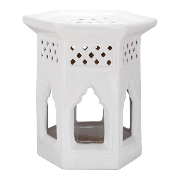 Stołek Moroccan White