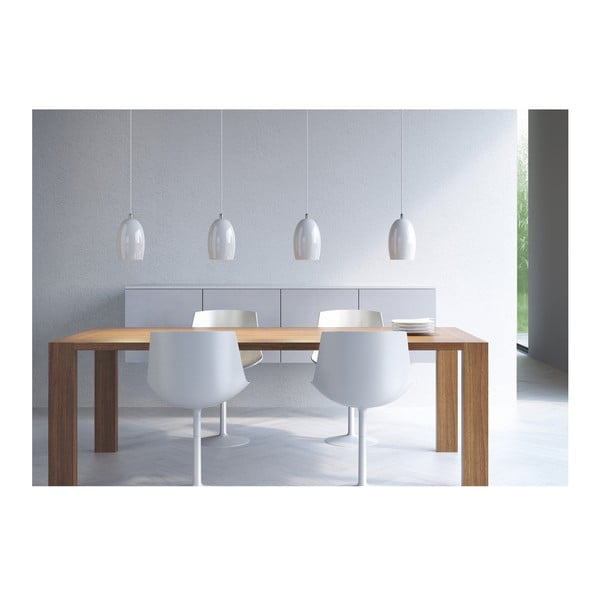 Lampa UME, silver opal/white