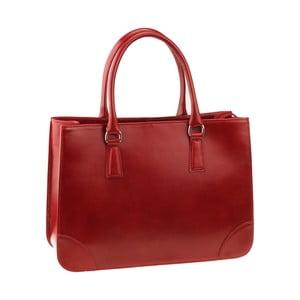 Czerwona skórzana torebka Florence Bags Denebola