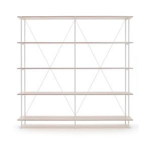 Biblioteczka One - biała, 149x144 cm