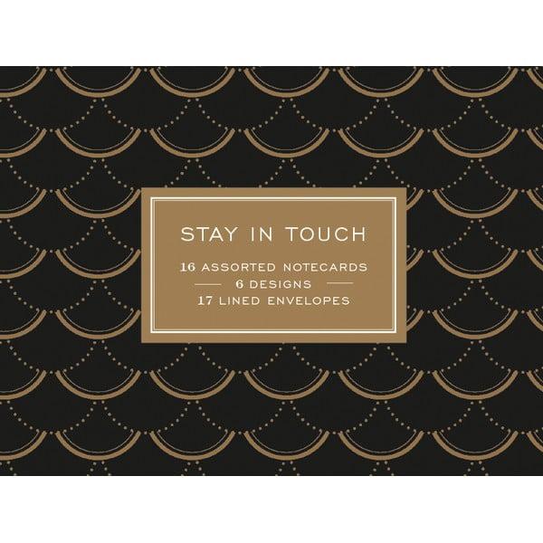 Zestaw karteczek z życzeniami Galison Mudpuppy Stay in Touch, 16 sztuk