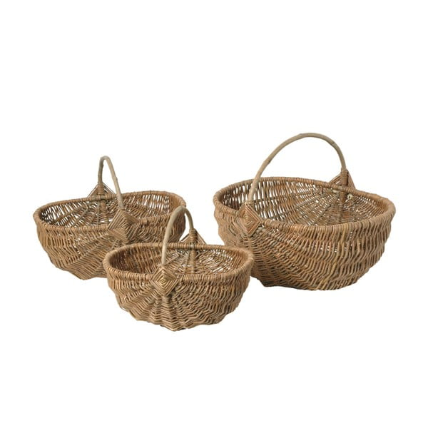 Zestaw 3 koszyków wiklinowych Antic Line Willow