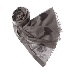 Szalik Jumbo Heart Grey, 200x100 cm