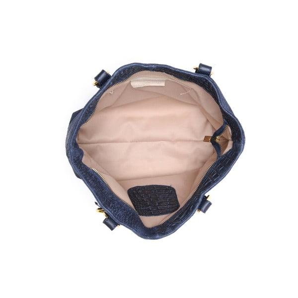 Skórzana torebka Carla Ferreri 863 Blu Scuro