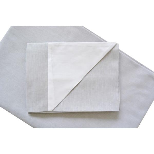 Szara pościel Hawke&Thorn Parker Simple, 240x220 cm + 2xpoduszka 50x60 cm