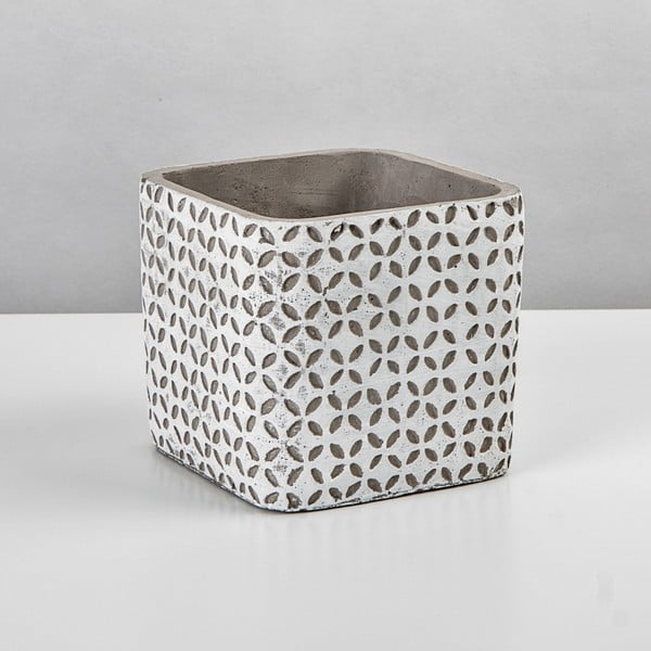 Osłona na doniczkę Beton, 14,5x14,5 cm