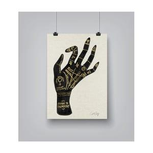 Plakat Americanflat Palmistry in gold, 30x42 cm