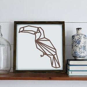 Obraz w ramie Dekorjinal Pouff Pelican, 33x33cm