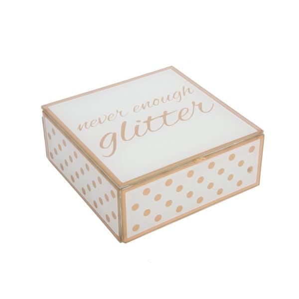 Szklana szkatułka na biżuterię Glitter