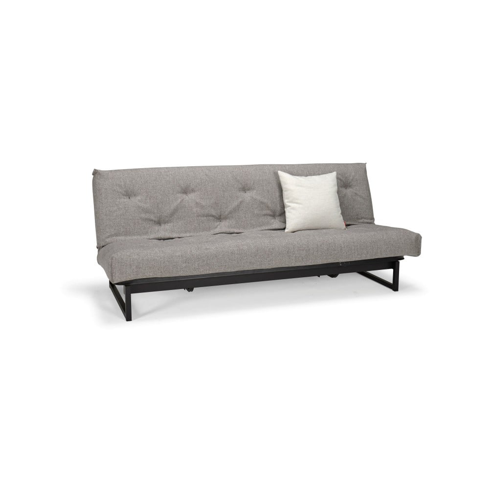 Szara rozkładana sofa Innovation Fraction Elegant Mixed Dance Grey, 97x200 cm