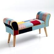 Kolorowa ławka z nogami z drewna dębowego Tomasucci Kaleidos