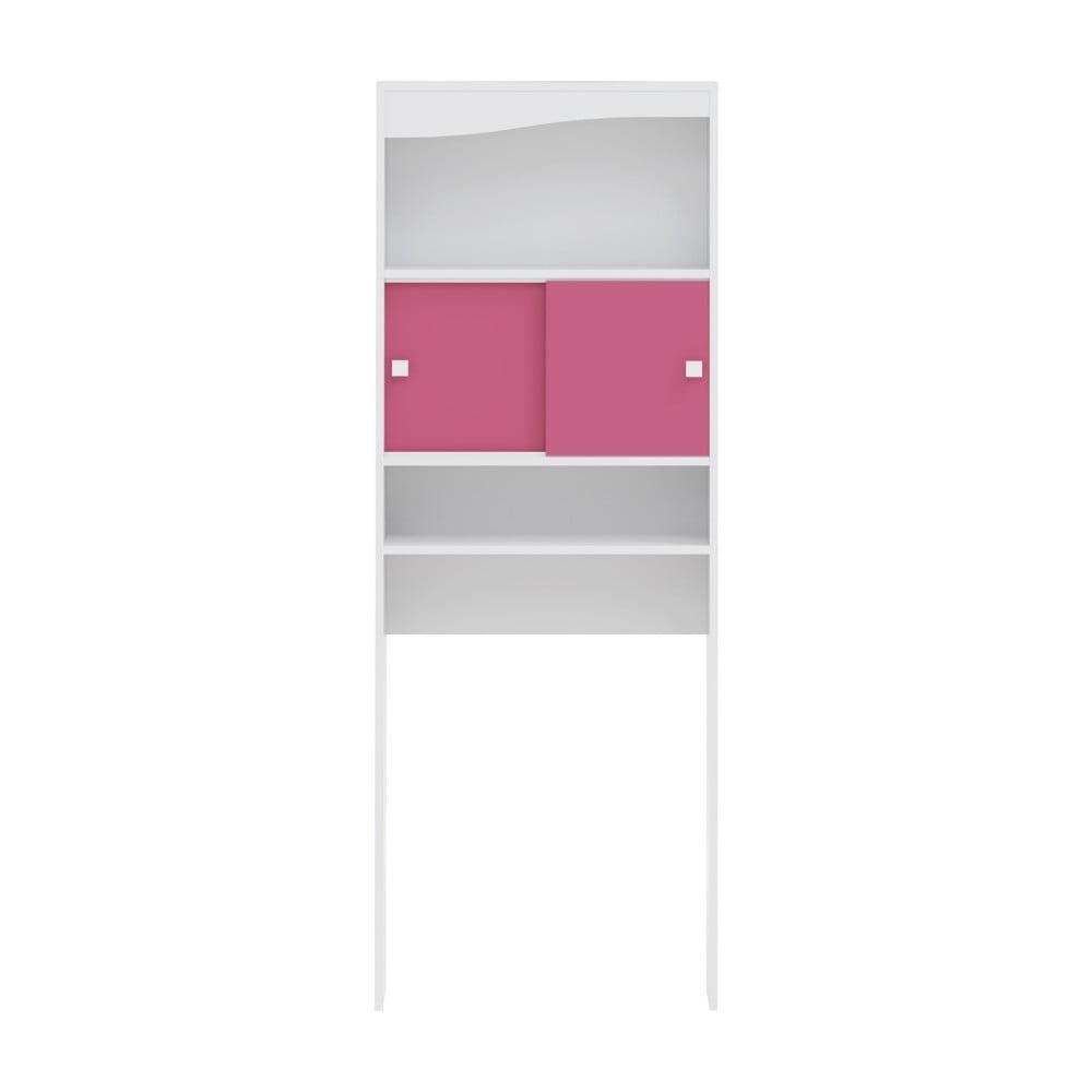 Różowa szafka łazienkowa z miejscem na pralkę TemaHome Wave, szer.60cm