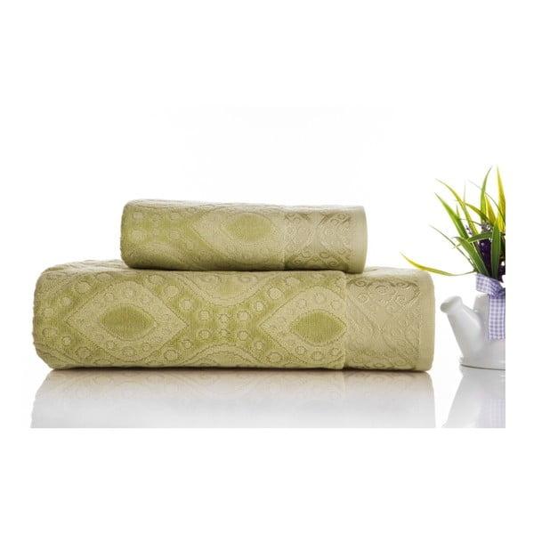 Zestaw 2 ręczników Sal Green, 50x90 cm a 70x140 cm