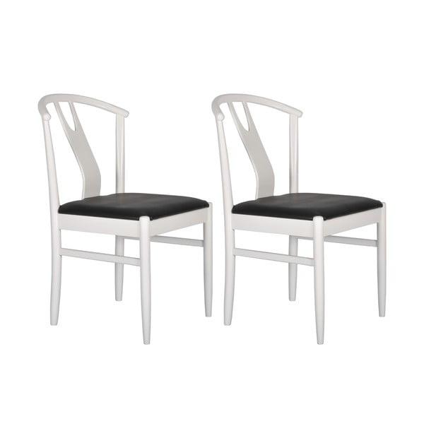 Komplet 2 krzeseł Hugo, białe