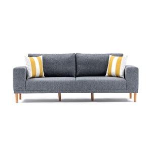 Szara sofa 3-osobowa Franz