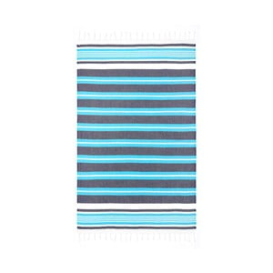 Turkusowy ręcznik hammam Begonville Rkyer Oceanic, 180x100 cm