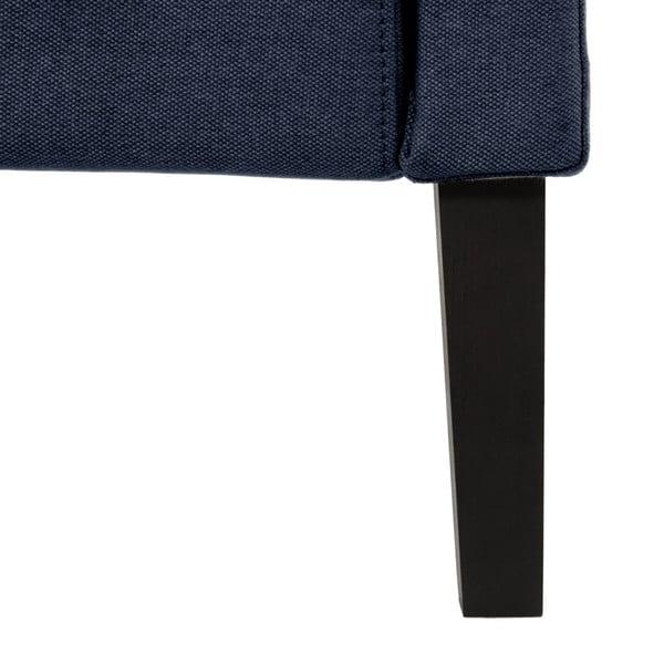 Granatowe łóżko z czarnymi nóżkami Vivonita Windsor, 140x200 cm