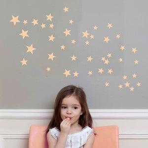 Różowe naklejki na ścianę Art For Kids Stars