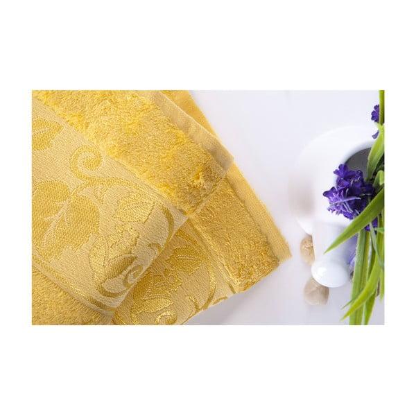 Zestaw 2 ręczników Bamboo Yellow, 50x90 cm
