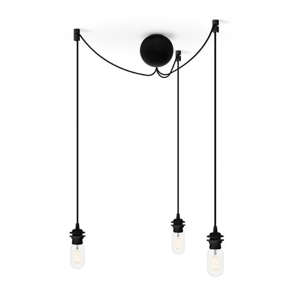Czarny potrójny kabel wiszący do lamp VITA Copenhagen Cannonball