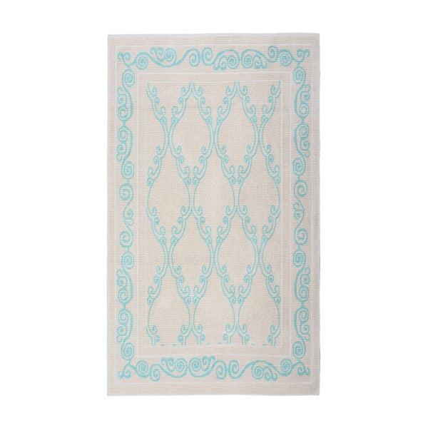Turkusowy dywan bawełniany Floorist Kijakazi, 100x200cm