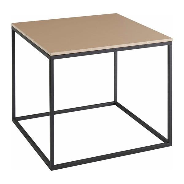 Stolik z brązowym blatem Støraa Castana, szer. 50 cm