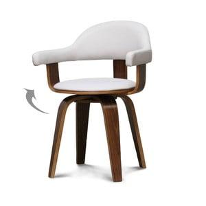 Białe krzesło obrotowe Opjet Suédoise