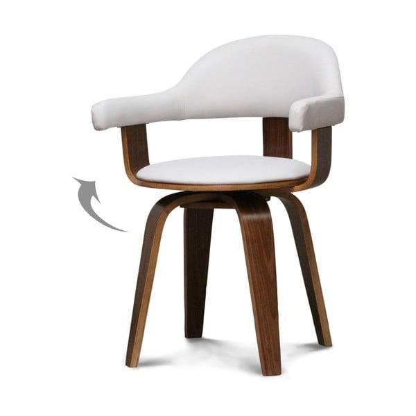 Krzesło obrotowe Suedoise Blanche