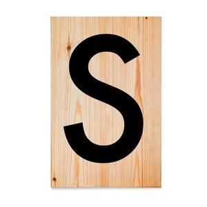 Drewniana tabliczka Letters S