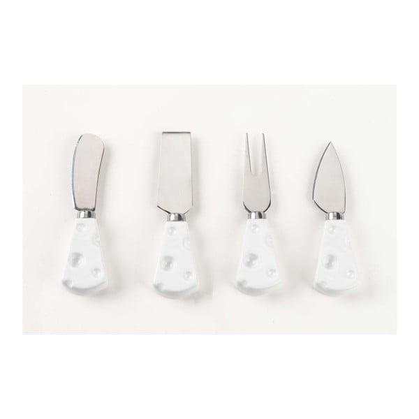 Zestaw białych noży na ser, 4 sztuki