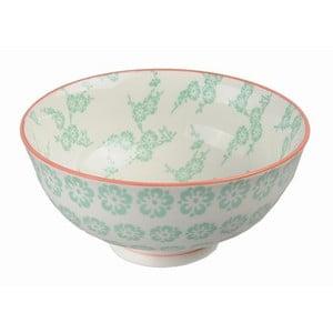 Porcelanowa miska Rice Green, 12x5,6 cm