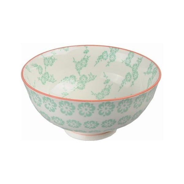 Porcelanowa miska Rice Green, 12x5,6 cm