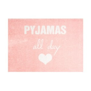 Różowa wycieraczka Mint Rugs StateMat Pyjamas All Day, 50x75 cm
