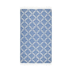 Niebieski ręcznik hammam Kate Louise Serafina, 165x100cm