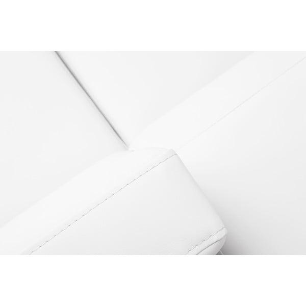 Biały skórzany rozkładany narożnik ze schowkiem prawostronny Windsor & Co Sofas Gamma