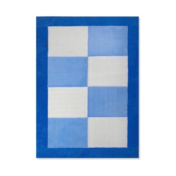 Dywan dziecięcy Mavis Blue Squares, 120x180 cm