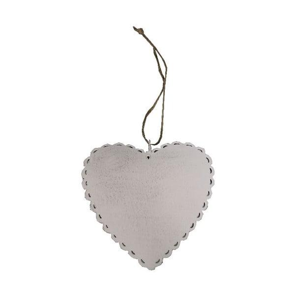 Dekoracja wisząca Romantic Heart, 12 cm