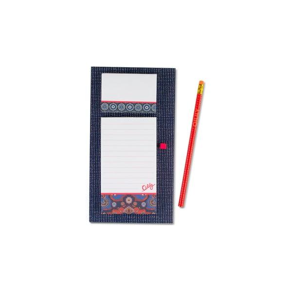Bloczek na lodówkę z karteczkami samoprzylepnymi i ołówkiem Portico Designs Oilily