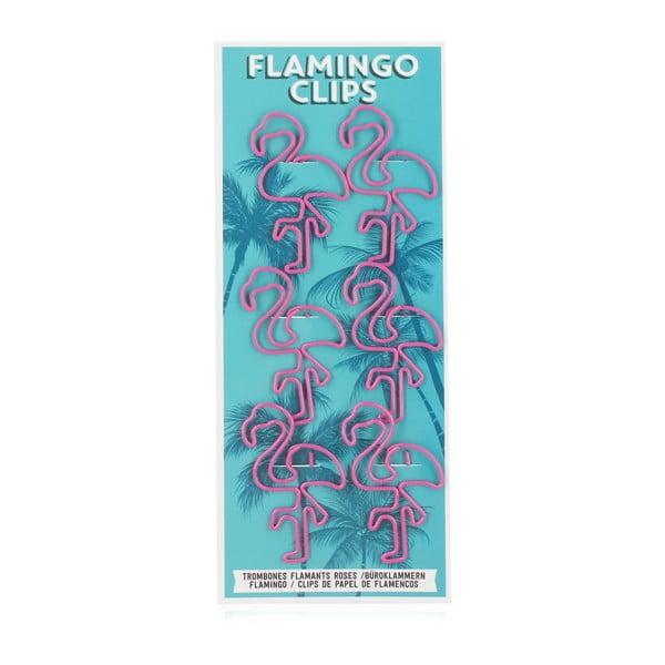 Zestaw 6 spinaczy do papieru npw™ Flamingo Paper Clips