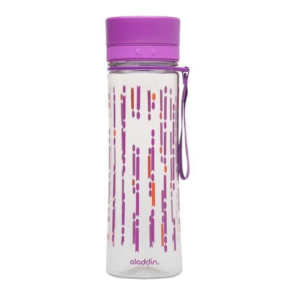 Butelka na wodę Aveo 600 ml, fioletowa z nadrukiem