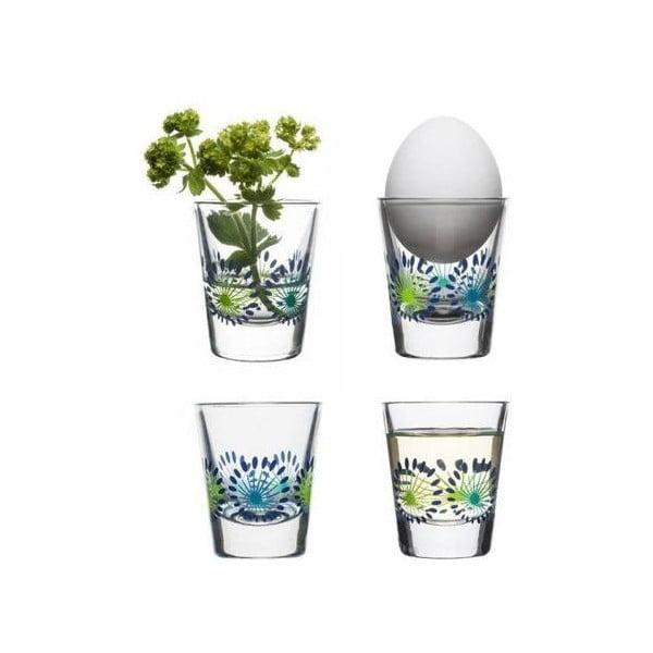 Zestaw 4 szklanek Fantasy 45 ml, zieleń