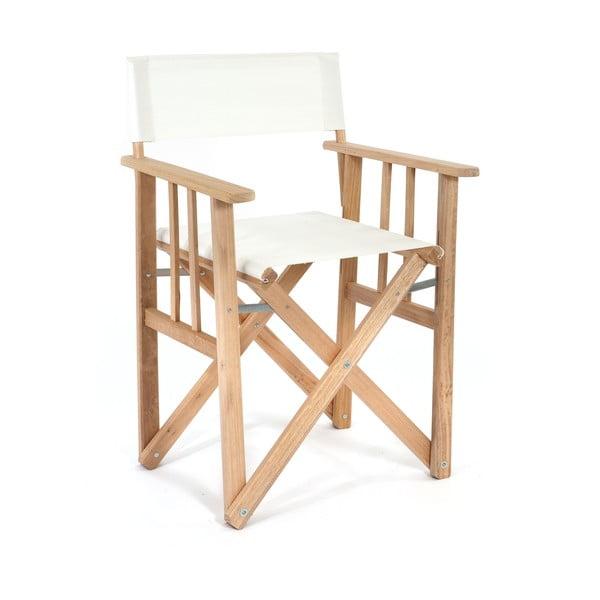 Składane krzesło Director, białe