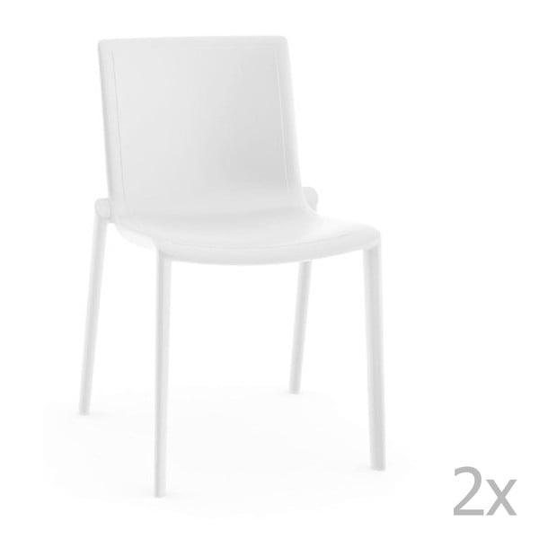 Zestaw 2 białych krzeseł ogrodowych Resol Kat