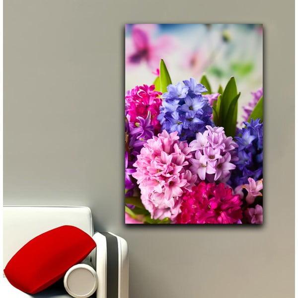 Obraz Róż i fiolet, 45x70 cm