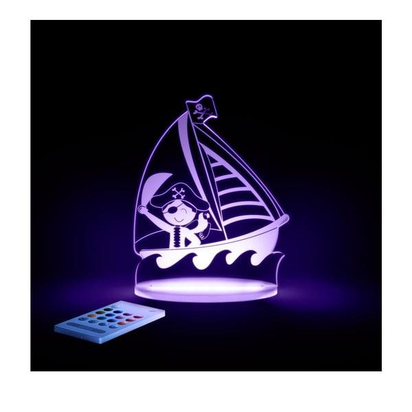 Dziecięca lampa nocna LED Aloka Pirat