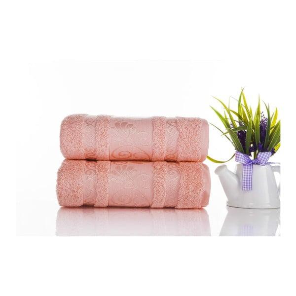 Zestaw 2 ręczników Carmen Coral, 50x90 cm