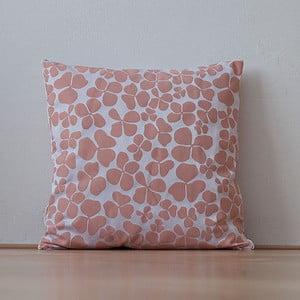 Poduszka z wypełnieniem Salmon Flowers, 50x50 cm