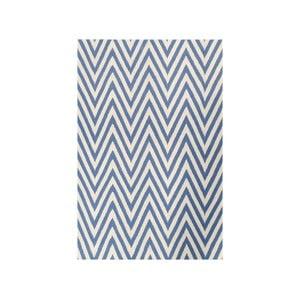 Dywan wełniany Zig Zag Light Blue, 200x140 cm