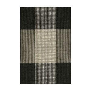 Szary dywan wełniany ręcznie tkany Linie Design Bologna, 220x220cm