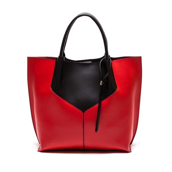 Skórzana torebka Anna Luchini 86 Nero Rosso